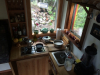 tiny home kitchen view of manor manor yard